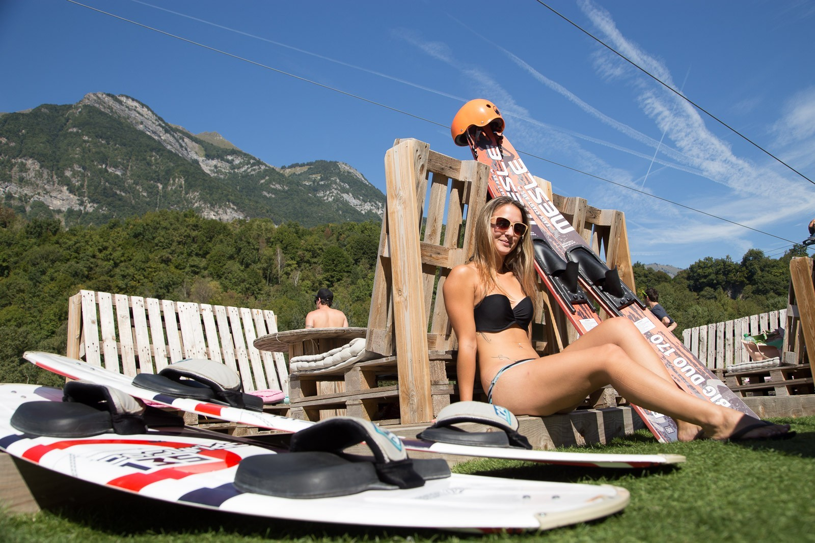 Die Basis Unterhaltung WAM 73 | Wakeboard , Wasserski, Kneeboard , Wakeskate Wakeski . Wassersport in Savoie, in der Nähe von Annecy, Albertville , Chambéry, Grenoble und Lyon