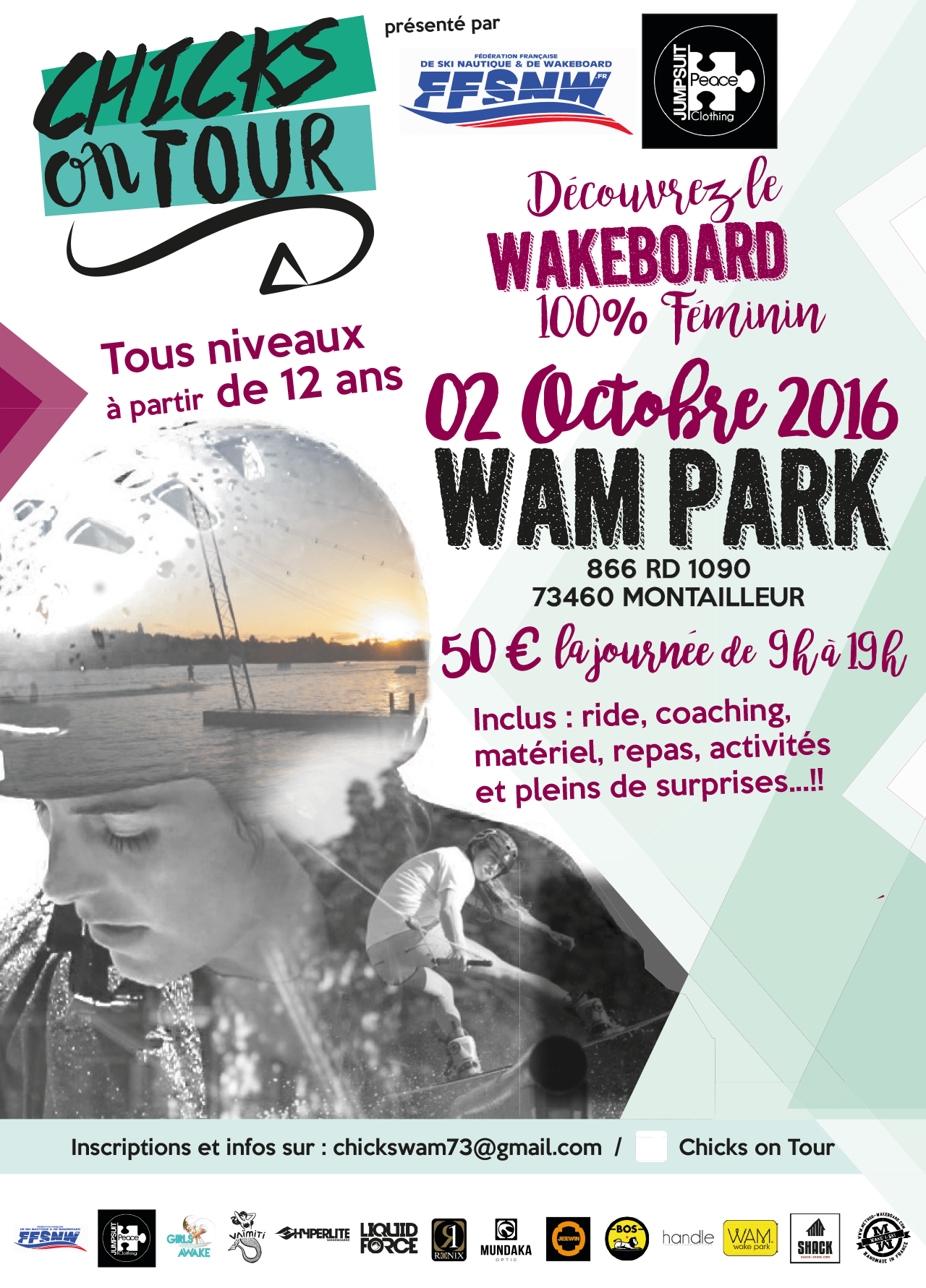 Chicks on tour ! Wake board 100% féminin