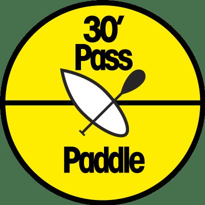 pass location paddle 30 min