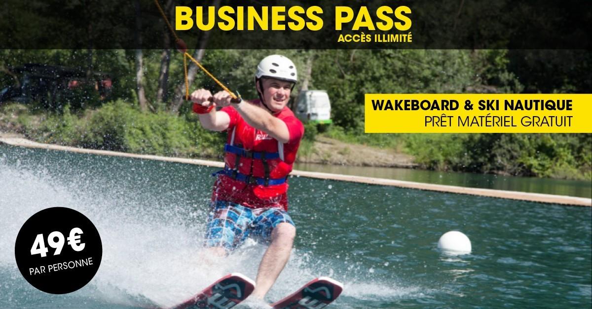BUSINESS PASS WAMPARK WAKEBOARD & SKI NAUTIQUE