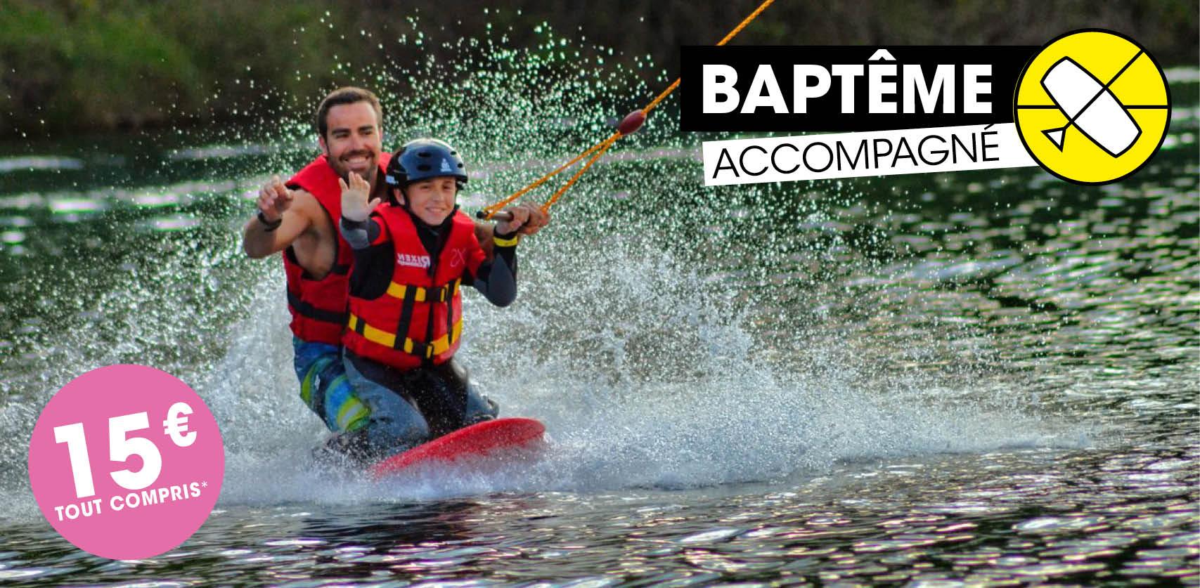 Baptême de wakeboard accompagné
